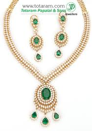 gold green necklace images 18k gold diamond necklace drop earrings set with green stones jpg