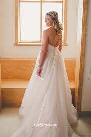 winter ivory a line strapless tulle plus size wedding dress