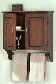 Bathroom Wall Cabinet With Towel Bar Bathroom Cabinet With Towel Rail Oak Bathroom Wall Cabinet With
