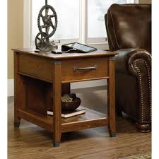 End Table Charging Station by Sauder Carson Forge Washington Cherry Side Table 413350 The Home