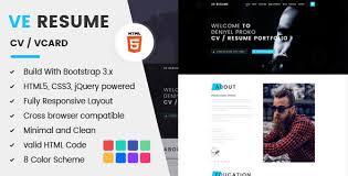 Html5 Resume Resume Cv Vcard By Bdexpert Themeforest