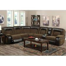 Microfiber Recliner Sofa by Brown 6 Piece Manual Reclining Sectional Helen Black Microfiber