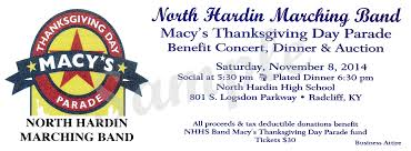 nhhs band march to macy s benefit dinner hardin high school