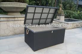 high quality waterproof outdoor cushion storage box rattan