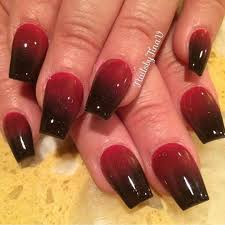 45 red and black nail designs red and black and pointy the