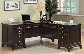 sauder 420606 palladia l desk vo a2 computer vintage oak amazon com l shaped desk garson collection by coaster furniture