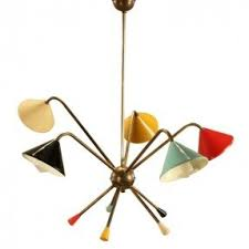 1950s Chandelier Multi Color Chandelier Foter