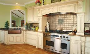 french kitchen backsplash country french kitchens brown wicker storage baskets rustic