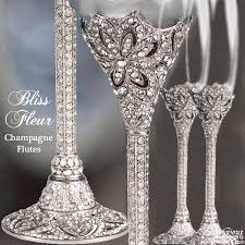 wedding glasses luxurious wedding accessories chagne flutes cake sets