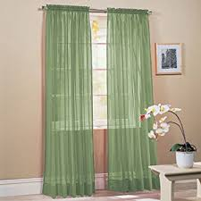 Green Sheer Curtains 2 Solid Green Sheer Window Curtains Drape
