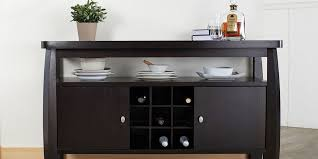 Dining Room Table With Wine Rack by Sideboards Amusing Dark Wood Sideboard Dark Wood Sideboard With