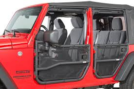 2017 jeep wrangler rugged exterior rugged ridge 13579 52 front u0026 rear tube door covers for 07 18 jeep