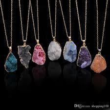 diy stone pendant necklace images Diy natural stone necklace images jpg