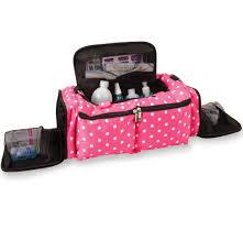 bellaroo nail technician bag pink polka dot nail tech bags