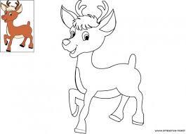 Coloriage de Noël Rudolph le petit renne au nez rouge à télécharger