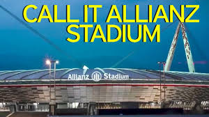 allianz siege chions league finalists juventus change the name of their home