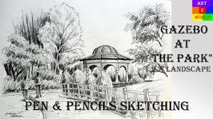 pen u0026 pencil sketching landscape tutorial lessons video