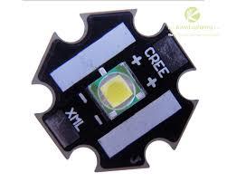 Led Xml T6 10w Cree Xml T6 Led Emitter Light 850lm White 6000 6500k On 20mm Pcb