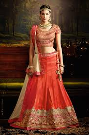 lengha choli for engagement ring ceremony lengha cholis shop online germany orange silk lengha