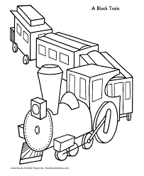 train images kids coloring