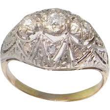 diamond engagement ring art deco wedding ring 1920s 1930s 1940s