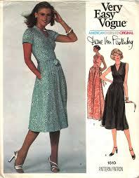 vogue patterns for petites 1970s diane von furstenberg wrap