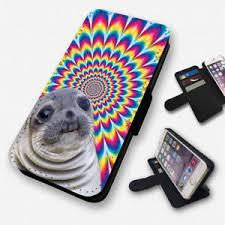 Awkward Seal Meme - trippy awkward seal meme flip phone case cover wallet card