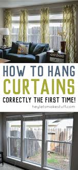 Curtain Hanging Ideas Hanging A Curtain Rod Ideas Curtains