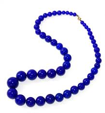 blue bead necklace images 60s blue plastic bead necklace jpg