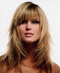 collections hairstyles for long thin with bangs cute