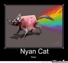 Internet Rainbow Meme - love at first zombie poptart rainbow cat d by jennifufu
