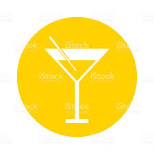 cocktail cartoon round icon yellow cocktail cartoon stock vector art 695916932 istock