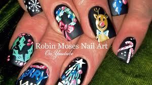 diy easy christmas nails chalkboard nail art design tutorial