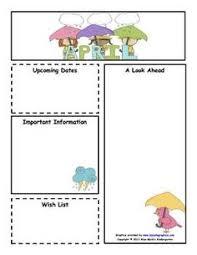 9 best images of free april preschool newsletter templates