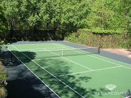 Backyard Tennis Court Cost Versacourt Court Tile For Tennis Court Construction U0026 Resurfacing