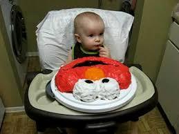 max eating elmo birthday cake 1st birthday youtube