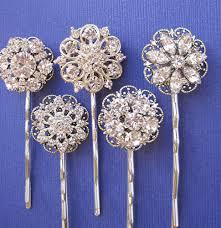 wedding hair pins wedding accessories hair pins 5 hair pins rhinestone hair