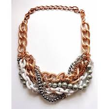 gold chunky necklace images Rose gold statement necklace chunky necklace statement jewelry jpg