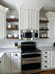 Under Cabinet Shelving by Open Shelves Between Kitchen Cabinets Shelving Base Cabinet Under