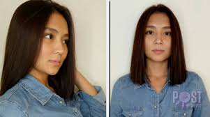 katrine bernardor hair color look kathryn bernardo sports a new hairdo push com ph your