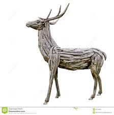 deer made from wood stock image image of beast artificial 25124387