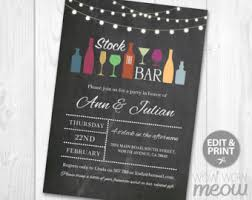 stock the bar invitations stock the bar etsy