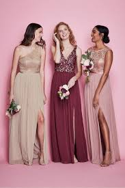 What Color Matches With Pink And Blue Mismatched Bridesmaid Dress Styles David U0027s Bridal