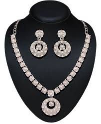 silver necklace set images Buy appealing silver necklace set 82820 at 12 75 jpeg