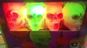 Halloween Skull Lights by Gemmy Halloween Animated Musical Skull String Lights Youtube