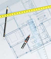 Blue Print Of House Vector Realistic Blueprint Of The House With Pencil Royalty Free