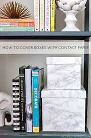 contact paper how to cover boxes with contact paper