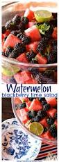 Summer Lunch Menus For Entertaining - watermelon blackberry lime salad reluctant entertainer