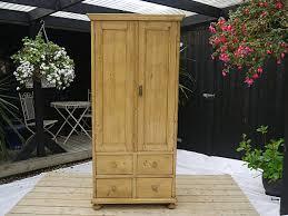 Old Pine Furniture Old Antique Pine Linen Press Cupboard Wardrobe Cabinet