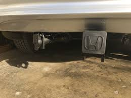 installed tow hitch and trailer wire alternative to 2016 honda pilot